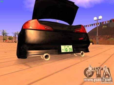 Infiniti G35 V.I.P for GTA San Andreas bottom view