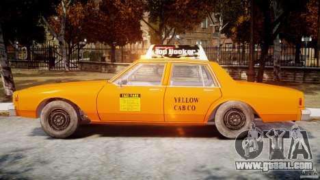 Chevrolet Impala Taxi v2.0 for GTA 4 back left view
