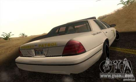 Ford Crown Victoria California Police for GTA San Andreas left view