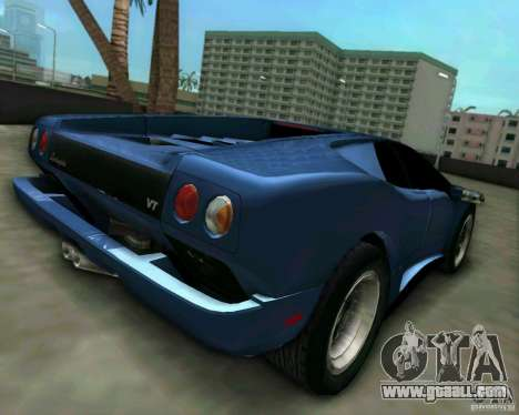 Lamborghini Diablo for GTA Vice City left view