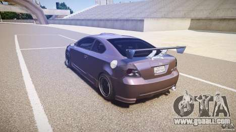 Toyota Scion TC 2.4 Tuning Edition for GTA 4 back left view