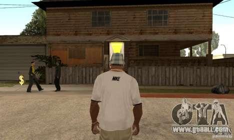 White Nike Shirt for GTA San Andreas second screenshot