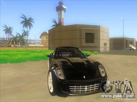 Ferrari 599 GTB Fiorano for GTA San Andreas side view