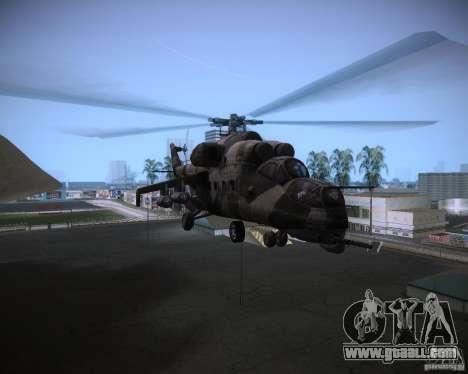 Mi-35 for GTA Vice City inner view