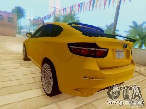 BMW X6 Hamann for GTA San Andreas upper view
