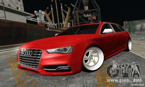Audi A6 Avant Stanced for GTA San Andreas back left view