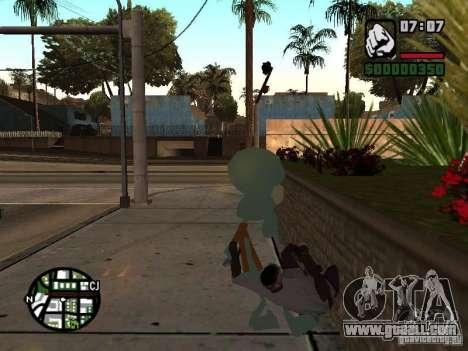 Squidward for GTA San Andreas sixth screenshot