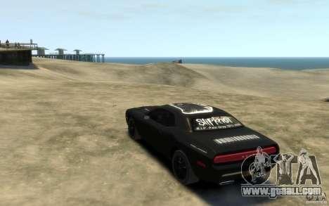 Dodge Challenger Concept Slipknot Edition for GTA 4 back left view