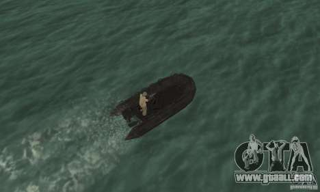 Boat of Cod mw 2 for GTA San Andreas back view