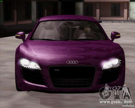 Audi R8 Production for GTA San Andreas right view