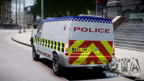 Ford Transit Polish Police [ELS] for GTA 4 back left view