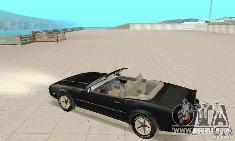 Chevrolet Camaro RS 1991 Convertible for GTA San Andreas back view