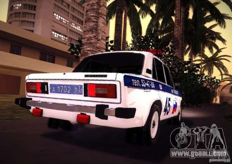 VAZ 2106 Police v 2.0 for GTA San Andreas back left view