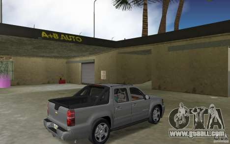 Chevrolet Avalanche 2007 for GTA Vice City right view