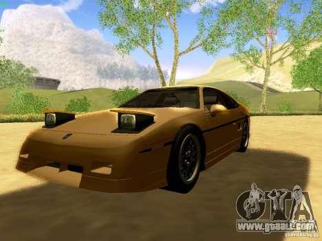 Pontiac Fiero V8 for GTA San Andreas