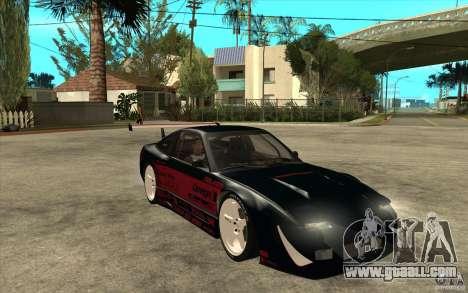 Nissan 180SX - Koguchi Power for GTA San Andreas back view