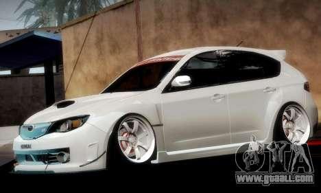 Subaru Impreza WRX Camber for GTA San Andreas engine