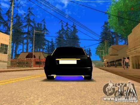 LADA 2170 Priora Gold Edition for GTA San Andreas back view
