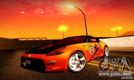 Nissan 370Z V2 for GTA San Andreas interior