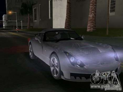 TVR Sagaris for GTA Vice City right view