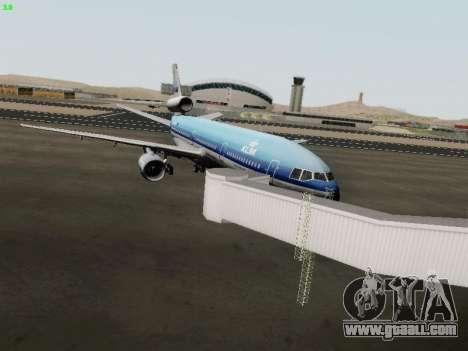 McDonell Douglas DC-10-30 KLM Royal Dutch for GTA San Andreas back view