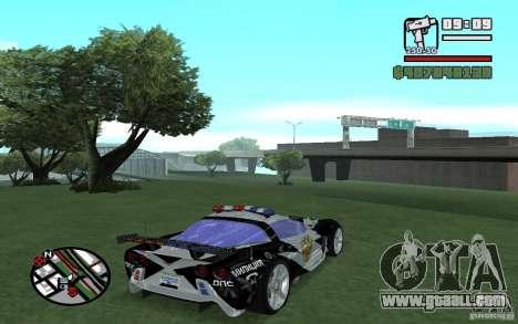 Cross Corvette C6R English for GTA San Andreas right view