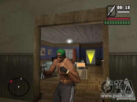 Fingerless gloves for GTA San Andreas second screenshot