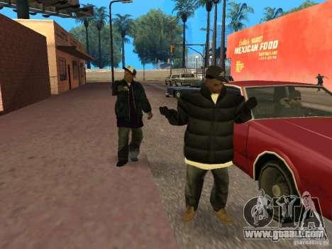 Winter clothes for Ballas for GTA San Andreas third screenshot