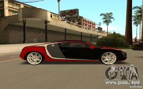 Audi R8 Le Mans Quattro for GTA San Andreas inner view