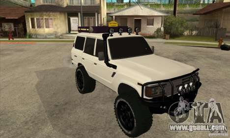 Toyota Land Cruiser 70 1993 Off Road Samurai for GTA San Andreas back view