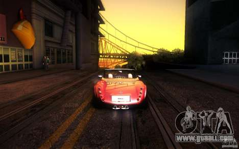 Wiesmann MF3 Roadster for GTA San Andreas inner view
