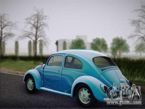 Volkswagen Beetle 1967 V.1 for GTA San Andreas back left view
