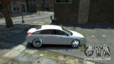 Citroen C6 for GTA 4 right view
