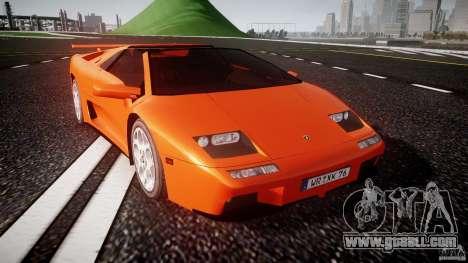 Lamborghini Diablo 6.0 VT for GTA 4 back view