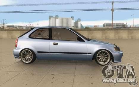 Honda Civic EK9 JDM v1.0 for GTA San Andreas inner view