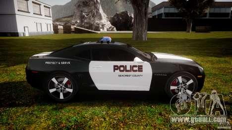 Chevrolet Camaro Police (Beta) for GTA 4 inner view