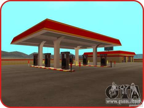 New Shell gas station for GTA San Andreas second screenshot