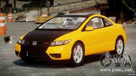 Honda Civic Si Coupe 2006 v1.0 for GTA 4 inner view