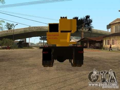 KrAZ truck for GTA San Andreas back left view