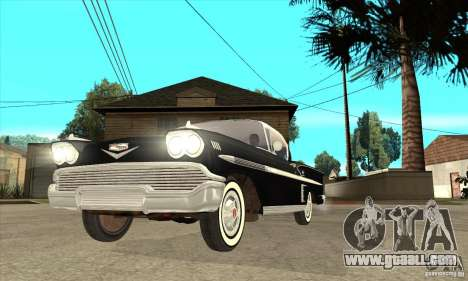 Chevrolet Impala 1958 for GTA San Andreas side view