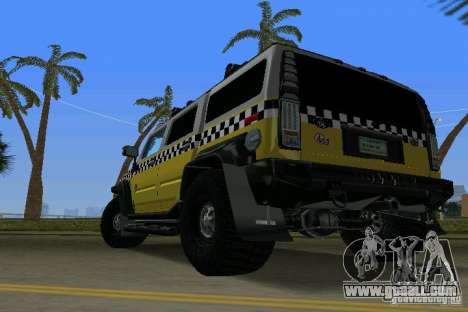 Hummer H2 SUV Taxi for GTA Vice City left view