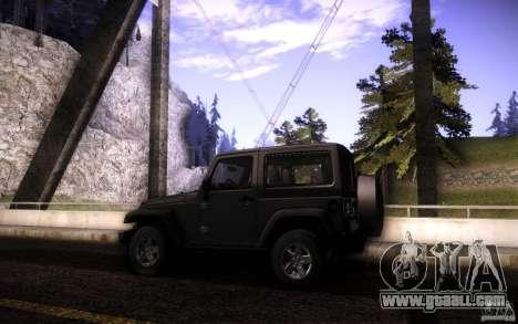 Jeep Wrangler Rubicon 2012 for GTA San Andreas upper view