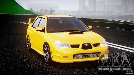 Subaru Impreza STI for GTA 4 back view