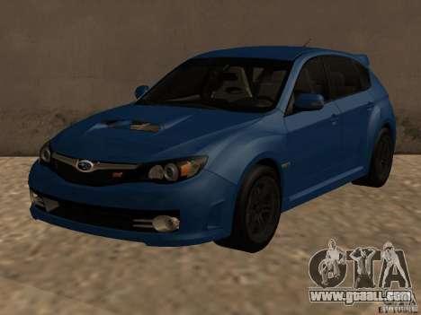 Subaru Imreza WRX for GTA San Andreas
