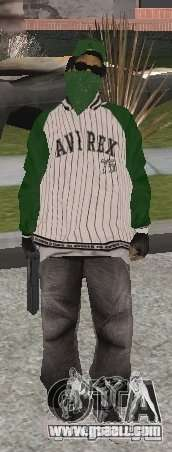 New skins Grove Street for GTA San Andreas fifth screenshot