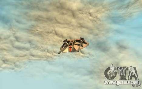 T-47 Snowspeeder for GTA San Andreas inner view