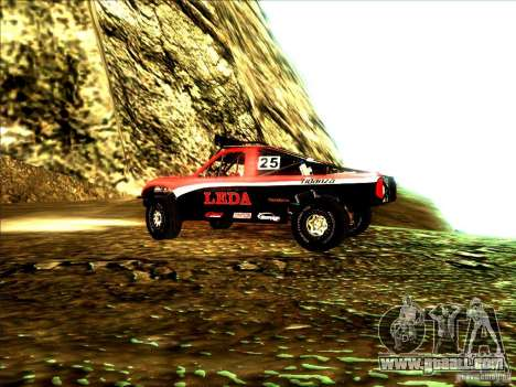Toyota Tundra Rally for GTA San Andreas back view