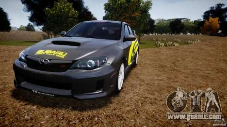 Subaru Impreza WRX STi 2011 Subaru World Rally for GTA 4 wheels