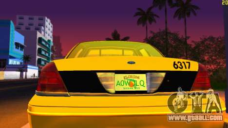 Ford Crown Victoria Taxi 2003 for GTA Vice City inner view
