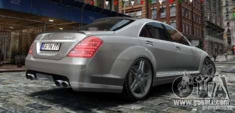Mercedes Benz S63 Amg for GTA 4 left view